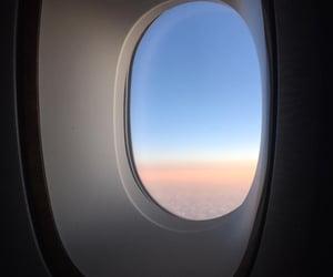 emirates, flight, and plane image