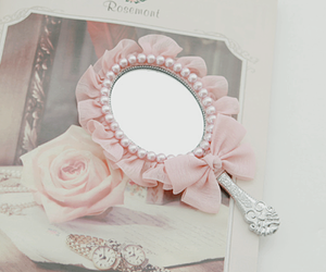 pink, mirror, and fashion image