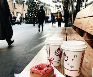 cappuccino, christmas, and dunkin donuts image