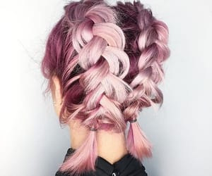 pink, hair, and hairstyle image