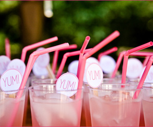 pink, drink, and yum image