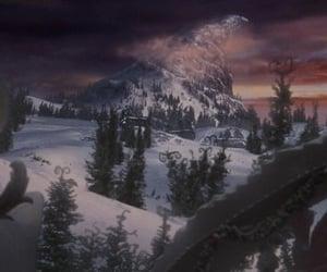 christmas, film, and mountain image