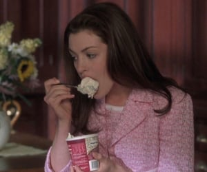 Anne Hathaway, ice cream, and pink image