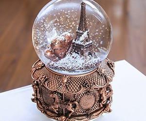 christmas snow globe image