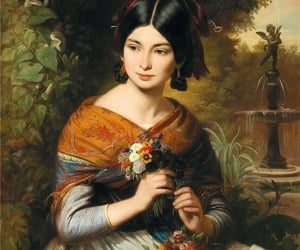 asian, Painter, and woman image