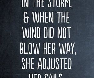 quote, storm, and life image