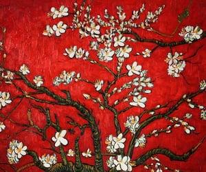 art, red, and van gogh image