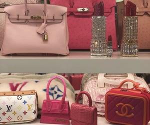 bag, pink, and chanel image