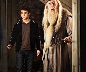 harry potter, dumbledore, and hogwarts image