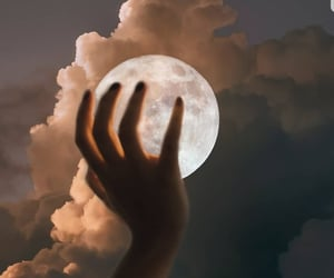 moon, aesthetic, and clouds image