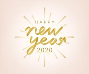 2020, happy new year, and new year 2020 image