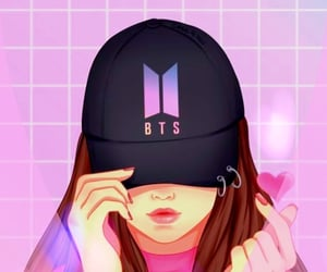 bts, ❤, and piclab image