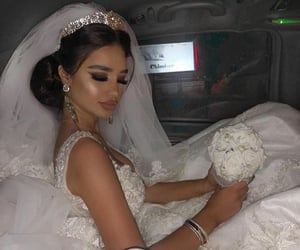 bride, luxury, and makeup image