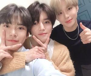 jungwoo, doyoung, and taeyong image
