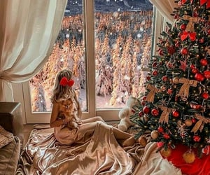 christmas, snow, and style image