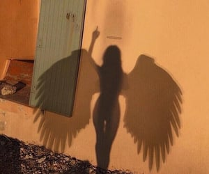 angel, aesthetic, and shadow image