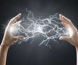 aesthetic, electricity, and magic image