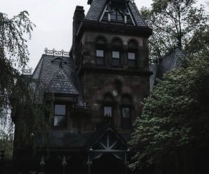 Darkness, victorian house, and witchy image