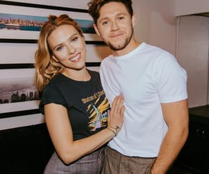 niall horan, Scarlett Johansson, and one direction image