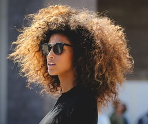 hair, curls, and Afro image