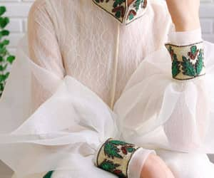 details, fahion, and white blouse image