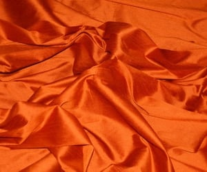aesthetic, orange, and silk image