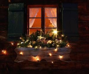 braun, cabin, and lichterkette image