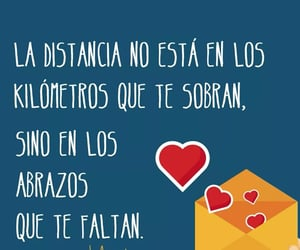abrazo, frases español, and amor image