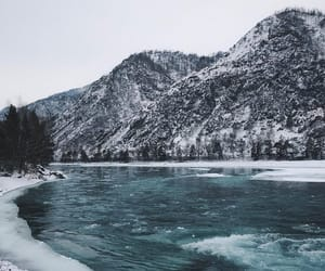 nature, river, and winter image