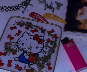 hello kitty and weed image