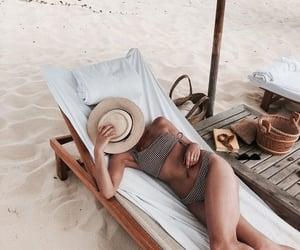 beach, inspiration, and bikini image