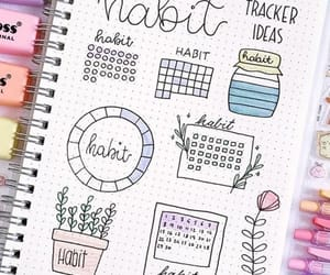 bujo, habit tracker, and bujo tracker image