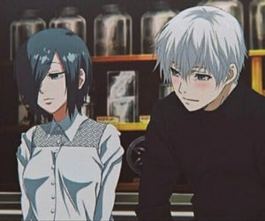 Tg, touka, and tokyo ghoul image