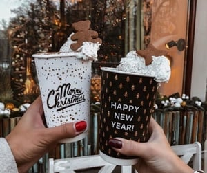christmas, coffee, and gingerbread image