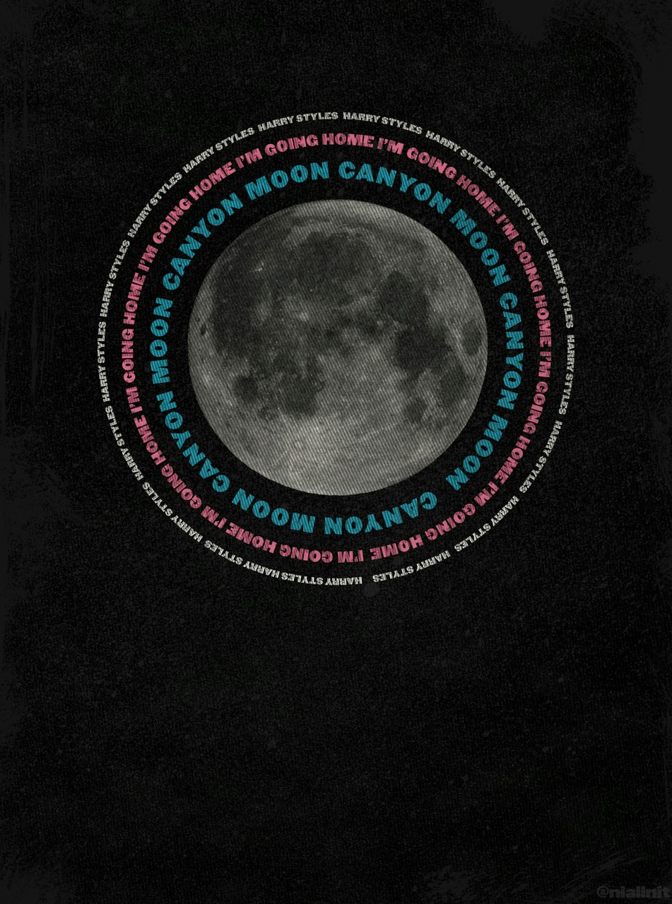 Harry Styles Canyon Moon Trippy Canvas