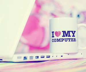 computer and love image