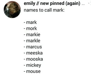 mark, cute names, and mark is cute image