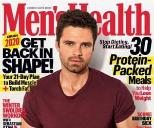 cover magazine, men's health, and photoshoot image