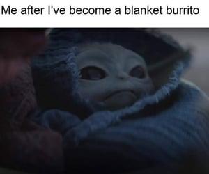 meme, star wars, and baby yoda image