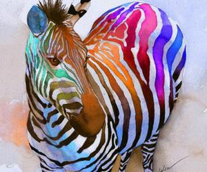 zebra and art image