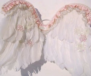 pink, angel, and wings image