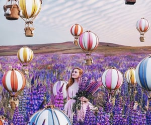 balloon, purple, and bohemian image
