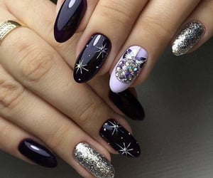 nails, lovely, and purple image