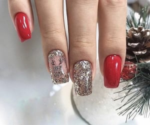 different, red, and nailschristmas image