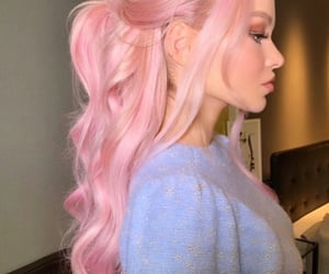 hair, pink, and dove cameron image
