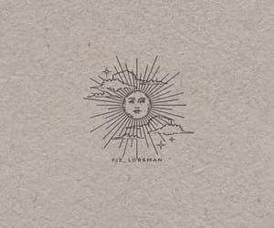 design, sun, and tattoo image