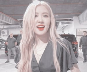 icon, rose, and blackpink image