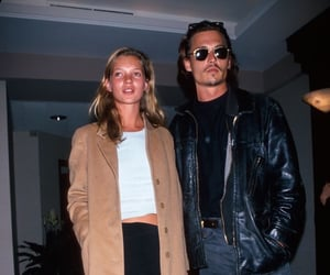 johnny depp, kate moss, and 90s image