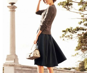 chic, classic, and skirt image
