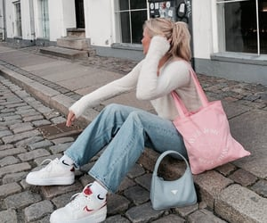 bag, outfit, and denim image
